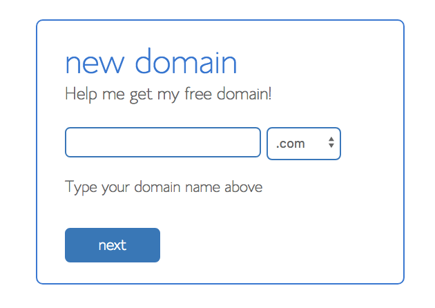 pick your domain name