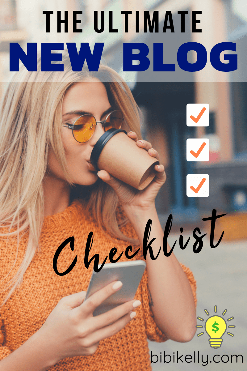 The Ultimate New Blog Checklist