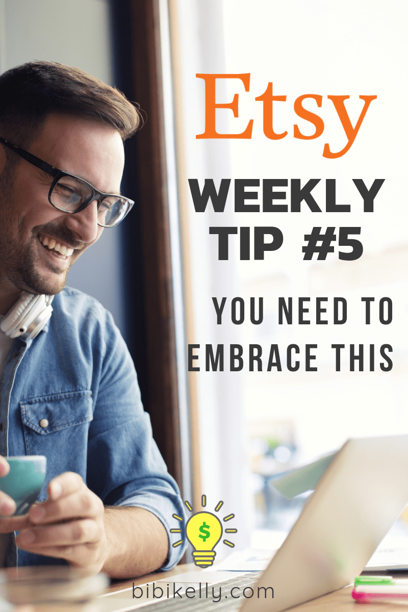 Etsy is going to keep changing, this is a fact. How you react to these changes will impact your success going forward. As a seller, you can't fight the changes. In reality, you must realize, you are merely a guest on Etsy's website. So like we talked about last week, lose the ego and be one of the first seller's to embrace new changes. #etsy #etsysuccess #etsyTips #etsyAdvice